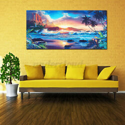 Sunset Sea Beach Modern Canvas Print Painting Wall Art Picture Home Room Decor