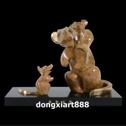38 Cm Famous China Artist Pure Bronze Abstract Three Mouse Household Art Statue