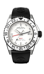 Menand039s Armand Nicolet Gmt And Date Js9-2 A486ccn-ag-gg470n Watch