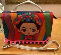 Denim Frida Khalo Shoulder Hand bag Purse Travel Women Colorful Zippered $19.70