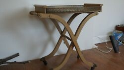 rare Vintage Art Deco 40's 50's Liquor Bar Cocktail Serving Cart And Tray