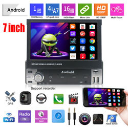 7 1 Din Android 9.1 Hd Flip Up Gps Navigation Car Stereo Player Radio Practical