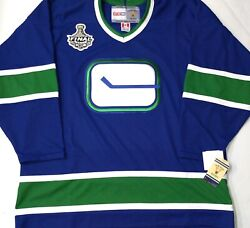 Vintage-serie-xl Vancouver Canucks 2011 Cup Patch Nhl Licensed Ccm Hockey Jersey