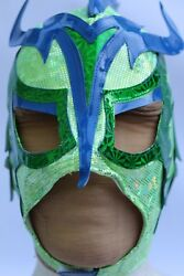 27.-young -ultimo Dragon- Lycra -add In The Beard- Wrestling Mask Lucha Libre