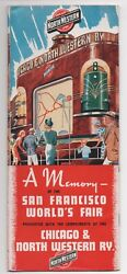 1939 Chicago And Northwestern Railway Brochure And Map To The Ggie World's Fair Sf