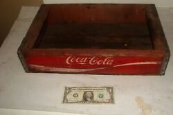 Vintage Red Pop Coca Cola Coke Wood Wooden Case Carrying Crate Soda Bottle Lot A