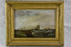 Victorian Oil On Canvas - Marine Scene Signed E. Hayes 1854 19 X 15