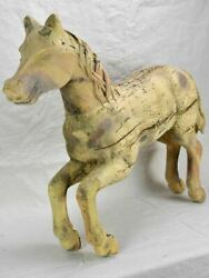 Carved Antique French Horse From A Carousel / Merry-go-round