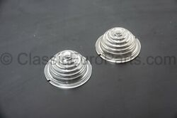 Small Beehive Clear Front Turn Indicator Lens Set For Porsche 356 Pre A And A