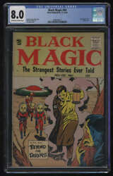 Black Magic 44 Cgc 8.0 Ow/w Pgs Vol 7 5 Hitler Cover 1960 Prize Publications