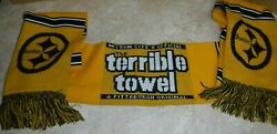 Pittsburgh Steelers Rare Terrible Towel Winter Scarf Acrylic Two Ply Scarf