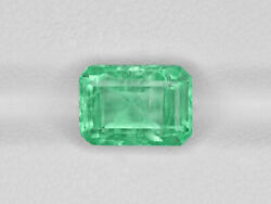 Gia Certified Colombia Emerald 2.96 Cts Natural Lustrous Pastel Green Octagonal
