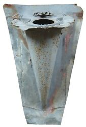 Antique Victorian Exterior Metal Vent Cover Chimney Cowl Architectural Salvage