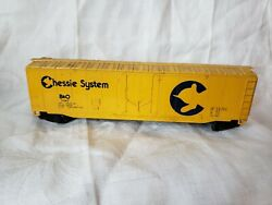 Vintage Model Train Car Unique Collectible Chessie System B And O Freight Car