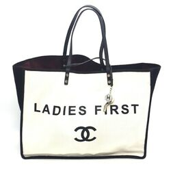 A92885 Cc Ladies First Lady First Shoulder Tote Bag Canvas X Leather