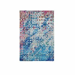 4and039x6and0391 The Peacock Sari Silk Colorful Hand Knotted Oriental Rug R59245