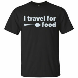 I Travel For Food Mark Wiens Mens Short Sleeve T Shirt Black Cotton Tee Funny $14.99