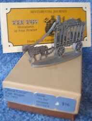 1981 Hallmark Little Gallery Pewter Tin Toy Royal Circus Cage Wagon Ca. 1910