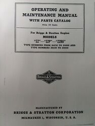 Briggs Stratton Model Zz Zzp Zr6 Engine Owner, Parts And Service Repair Manual