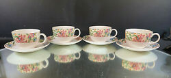 Royal Doulton--jacobean--set Of 4 Cups And Saucers--excellent--buy It Now