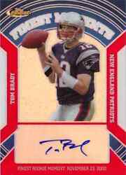 2007 Topps Finest Tom Brady Auto Refractor Moments Card D 25 Patriots