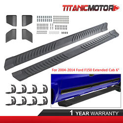 Right+left 6 Running Board Side Step Nerf Bars For 04-14 Ford F150 Extended Cab