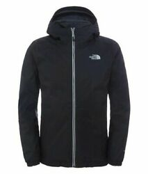 NWT Mens The NORTH FACE Black Lined Insulated Quest Jacket Coat Large L $69.99