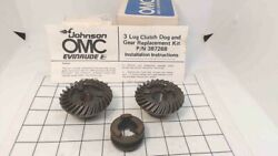 New Johnson Evinrude Omc 1976 And Later Gear Set W/ Clutch Dog 35 Hp 387268