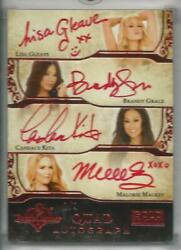 2013 Benchwarmer Gold Edition Quad Red Autograph Auto 1/1 Gleave Kita Grace