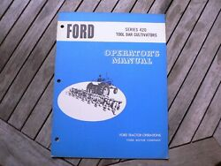 Ford Tractor 420 Tool Bar Cultivator Owner Operator Manual Instruction Book