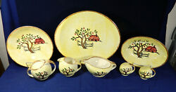 7-pcs Or Less Hand Painted Blue Ridge/southern Potteries Red Barn 4317 China