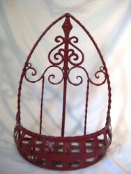 Wrought Iron Wall Planter 16quot; x 12quot; x 7quot;