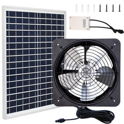 3000cfm Greenhouse Ventilation Vent Fan Extractor Kit Battery And Solar Panel