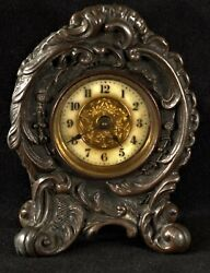 Bronze Mantel Clock With A Working British United Clock Co Movement