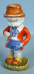 1930s Skippy Cartoon Bisque Statue Percy Crosby Early Comic Strip Movable Arm