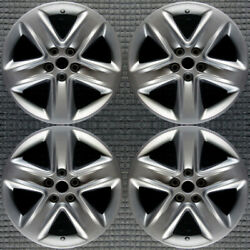 Ford Fusion Hyper Silver 18 Oem Wheel Set 2010 To 2012