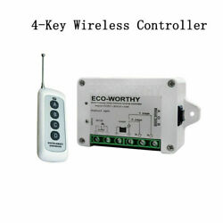 8-30v Wireless Remote Control Kit Linear Actuators Dc Motor Controller Us Stock