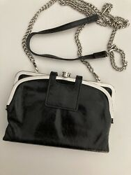 Convertible Hobo Wallet Use As Clutch Crossbody Shoulder Or Wristlet Black $40.00