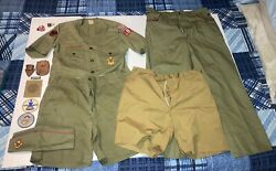Vintage 1960's Boy Scouts Of America Uniform Lot With Patch And Extras