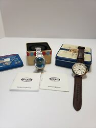Mens Fossil Watches The Grant Chronograph And Big Tic Digital. Comes With Cases