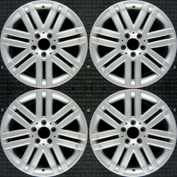 Mercedes-benz C300 All Silver 17 Oem Wheel Set 2008 To 2009