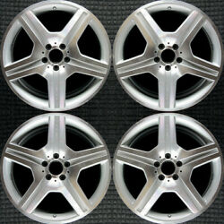 Mercedes-benz Cl Class Machined W/ Silver Pockets 19 Oem Wheel Set 2008 To 20