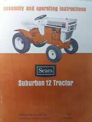 Sears Suburban Ss/12 Garden Tractor And Engine Owner And Parts 3 Manuals 917.25350