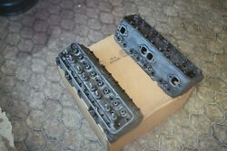 1957 Corvette Small Block 283 Cylinder Heads Fuel Injection C1 Gm 3731539 Pair