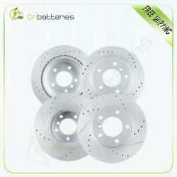 Front + Rear Drilled And Slotted Brake Rotors For Bmw 328 Series 2008 - 328i