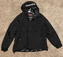 Supreme Hooded Logo Half Zip Pullover Size Large Fw17 Authentic Perfectcondition