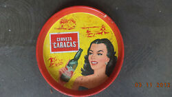 Venezuela 1950s Beer Tray Made In Usa By Canco Rare