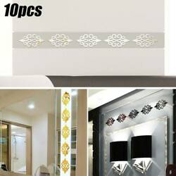 10Pcs Mirror Flower Wall Stickers Art Mural Decal Removable Bedroom Home Decors