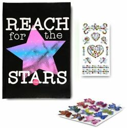New Light Up Diary Journal And Secret Invisible Ink Pen Set Lined Pages Stickers