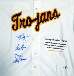 Usc Legends Autographed Signed Jersey 4 Sigs Seaver Mcgwire Steiner Holo 112675